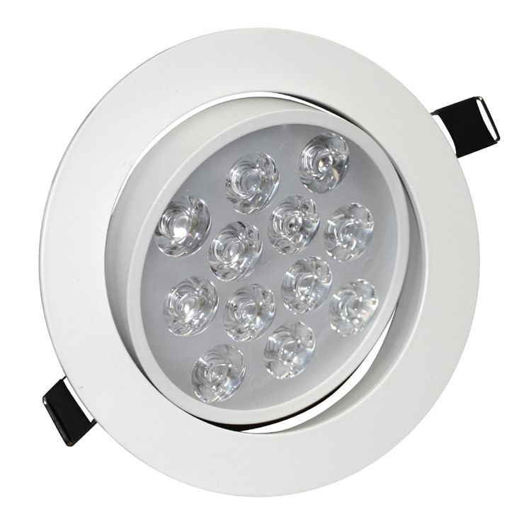 12w angle adjustment recessed spotlight led ceiling downlight. Black Bedroom Furniture Sets. Home Design Ideas