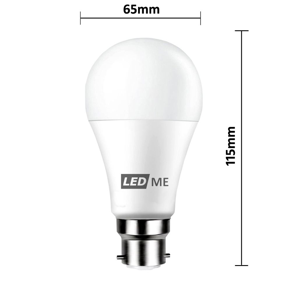 12w Energy Saving Led Bulb B22 Bayonet In Cool White 6000k Non Dimmable