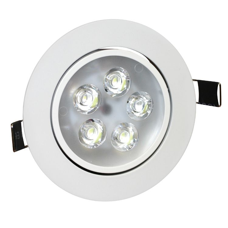 5w angle adjustment recessed spotlight led ceiling downlight. Black Bedroom Furniture Sets. Home Design Ideas