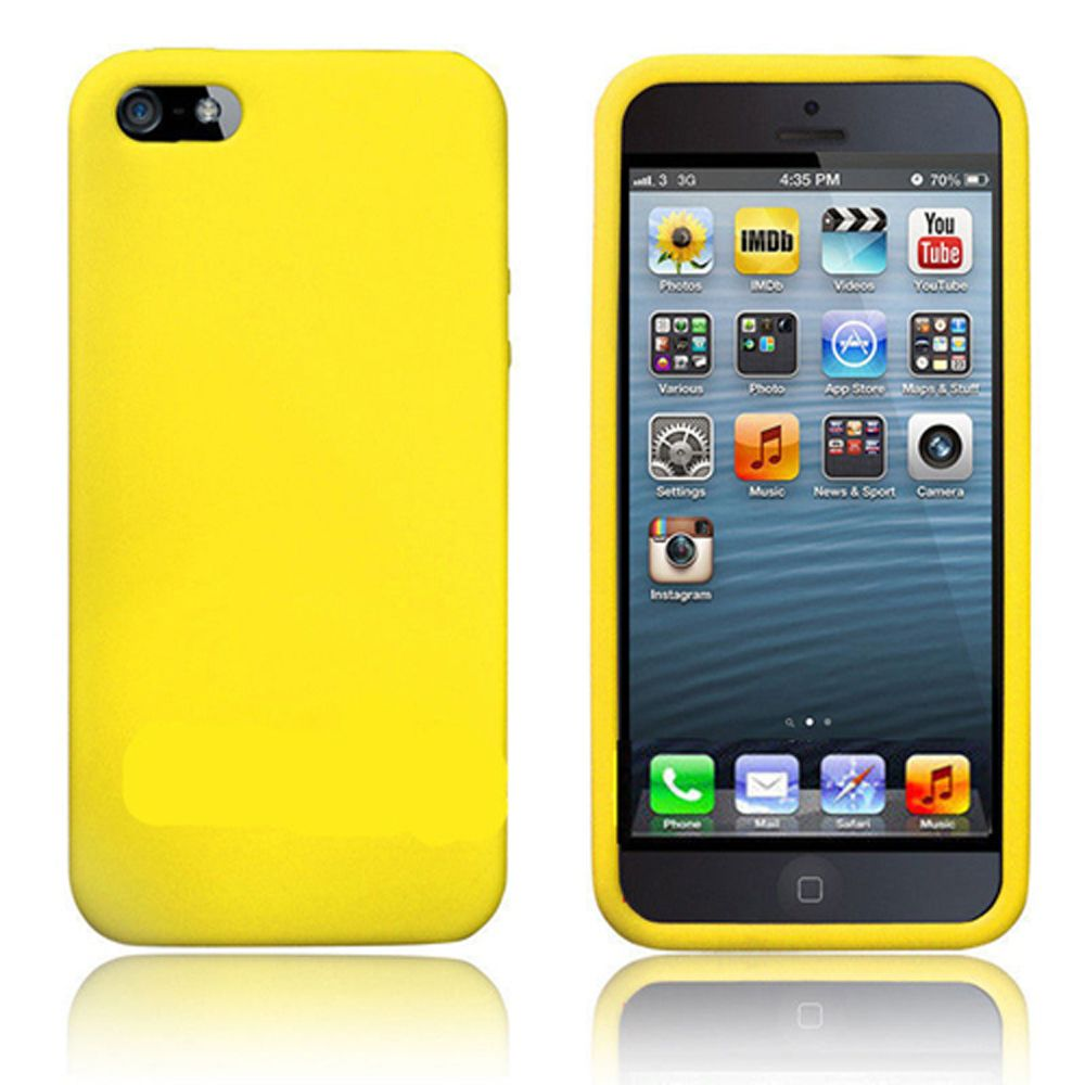 Silicone Case For Iphone 5 5s Yellow
