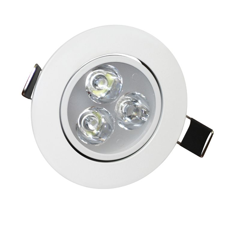 3w angle adjustment recessed spotlight led ceiling downlight for Led lights for high ceilings