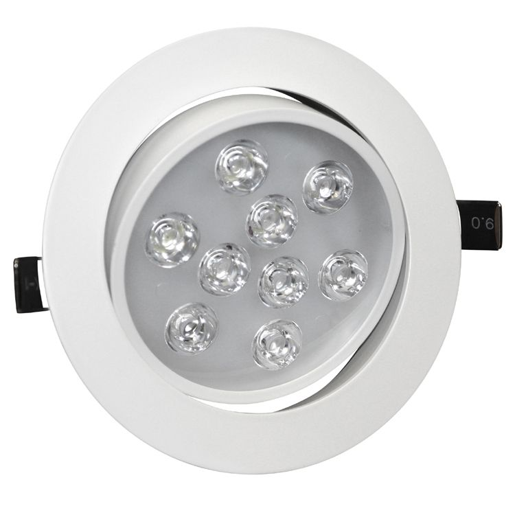 9w Angle Adjustment Recessed Spotlight Led Ceiling Downlight