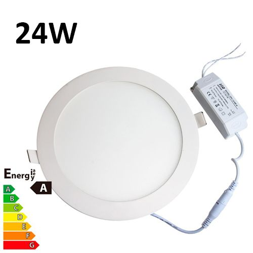 Round Recessed Ceiling Light: JSG Accessories LED Round Recessed Ceiling Panel Down
