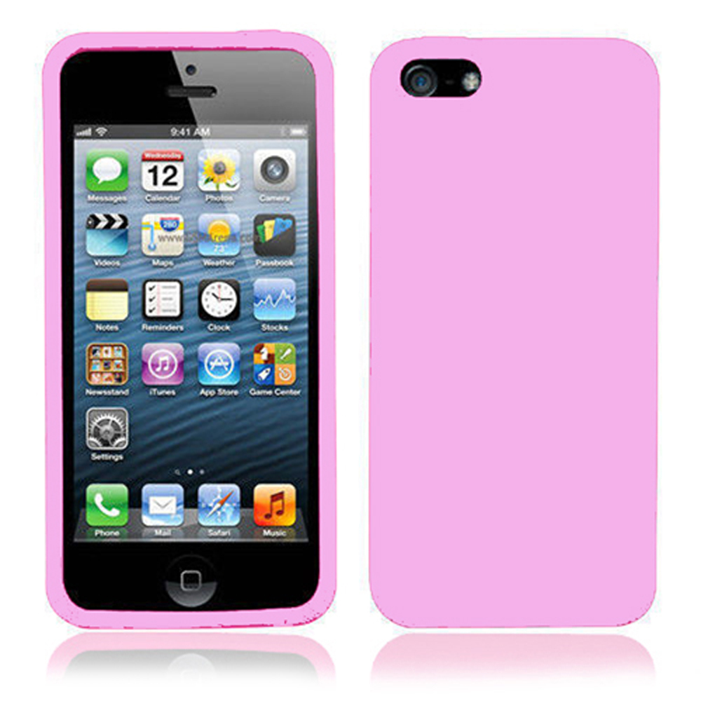silicone iphone 5 case silicone for iphone 5 5s pink 16129