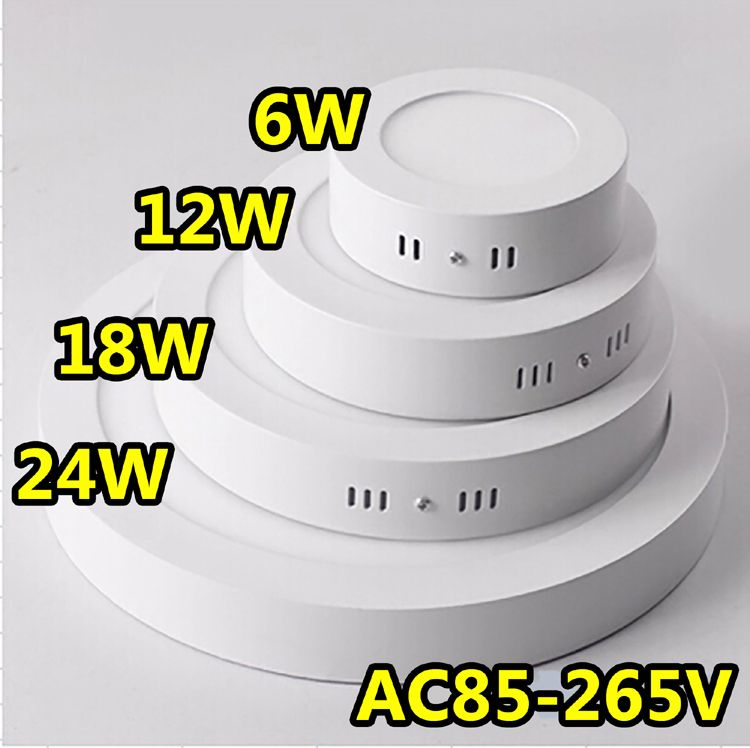 Surface Mounted Led Panel Light Circular Round Ceiling