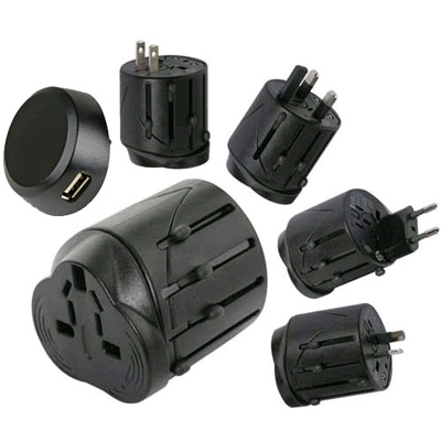 UNIVERSAL TRAVEL PLUG ADAPTOR ADAPTER WITH USB PORT